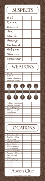 Ambitious image throughout printable clue sheets