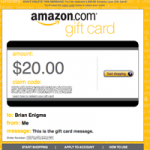 On the usability of virtual pre-paid gift credit cards