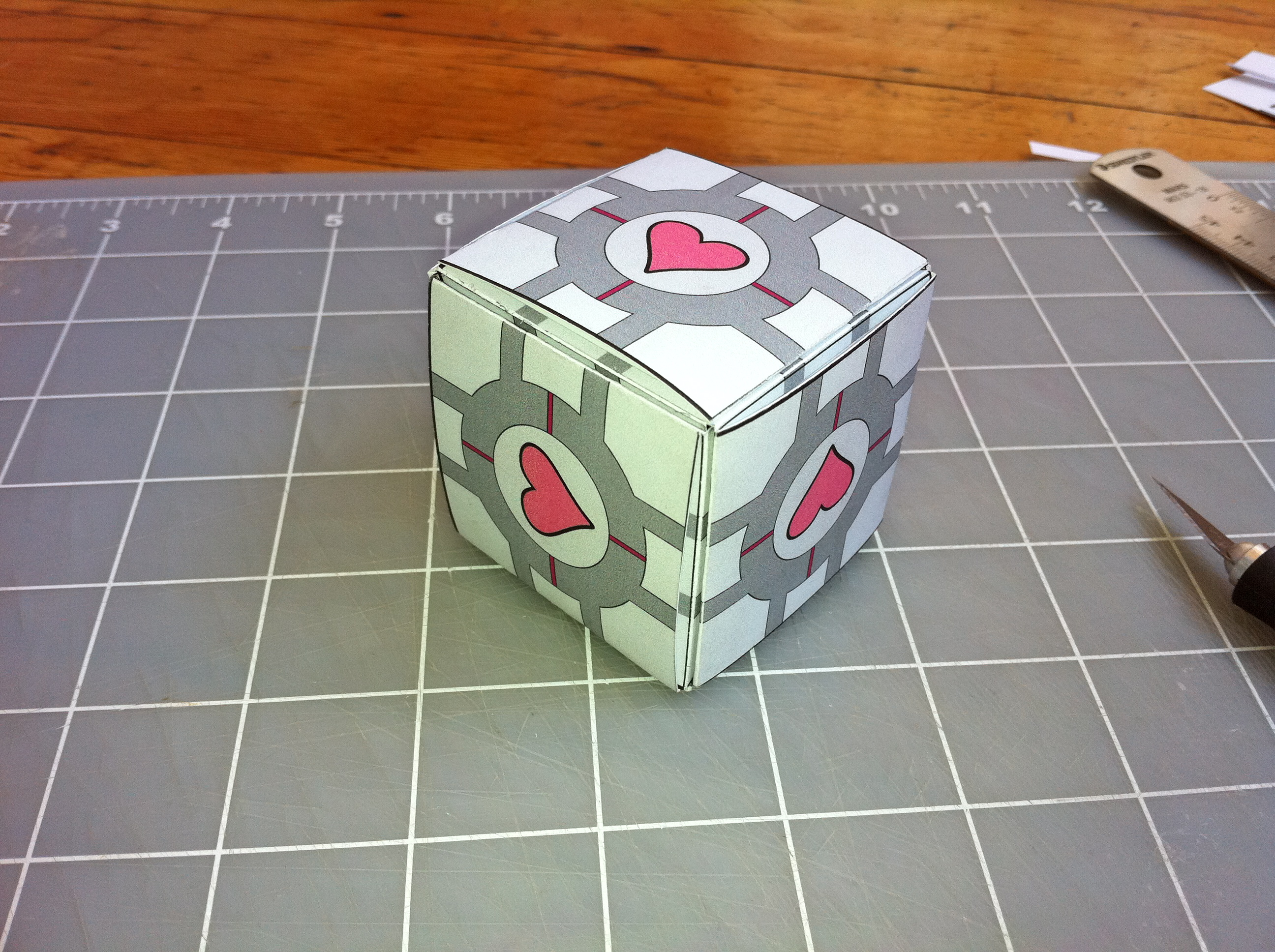 The business card companion cube