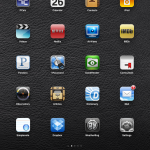 My installed iPad apps. Let me show you them.