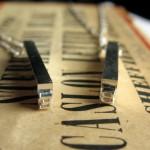 Silver-plated Letterpress