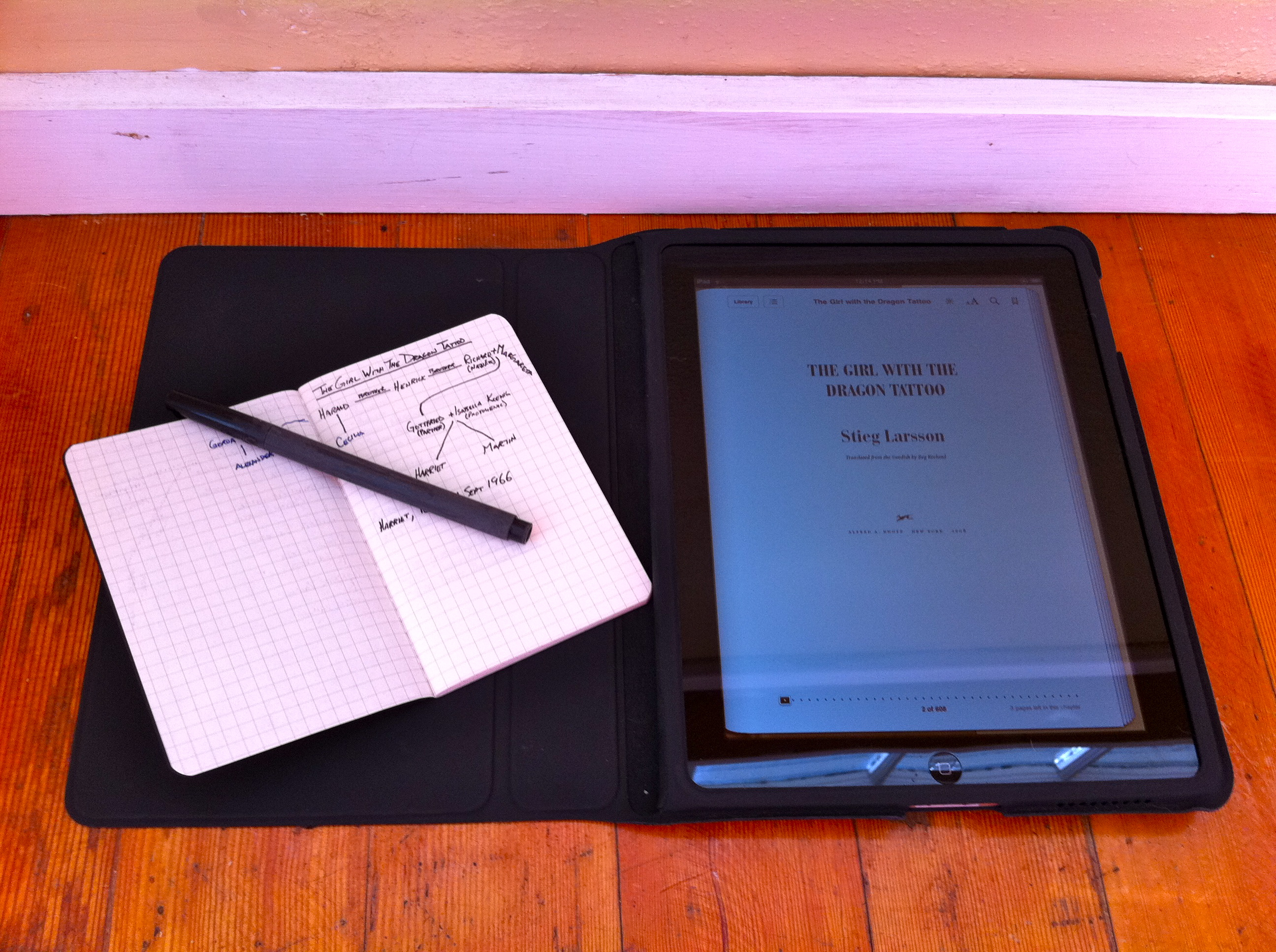 My reverse iPad/Moleskine hack