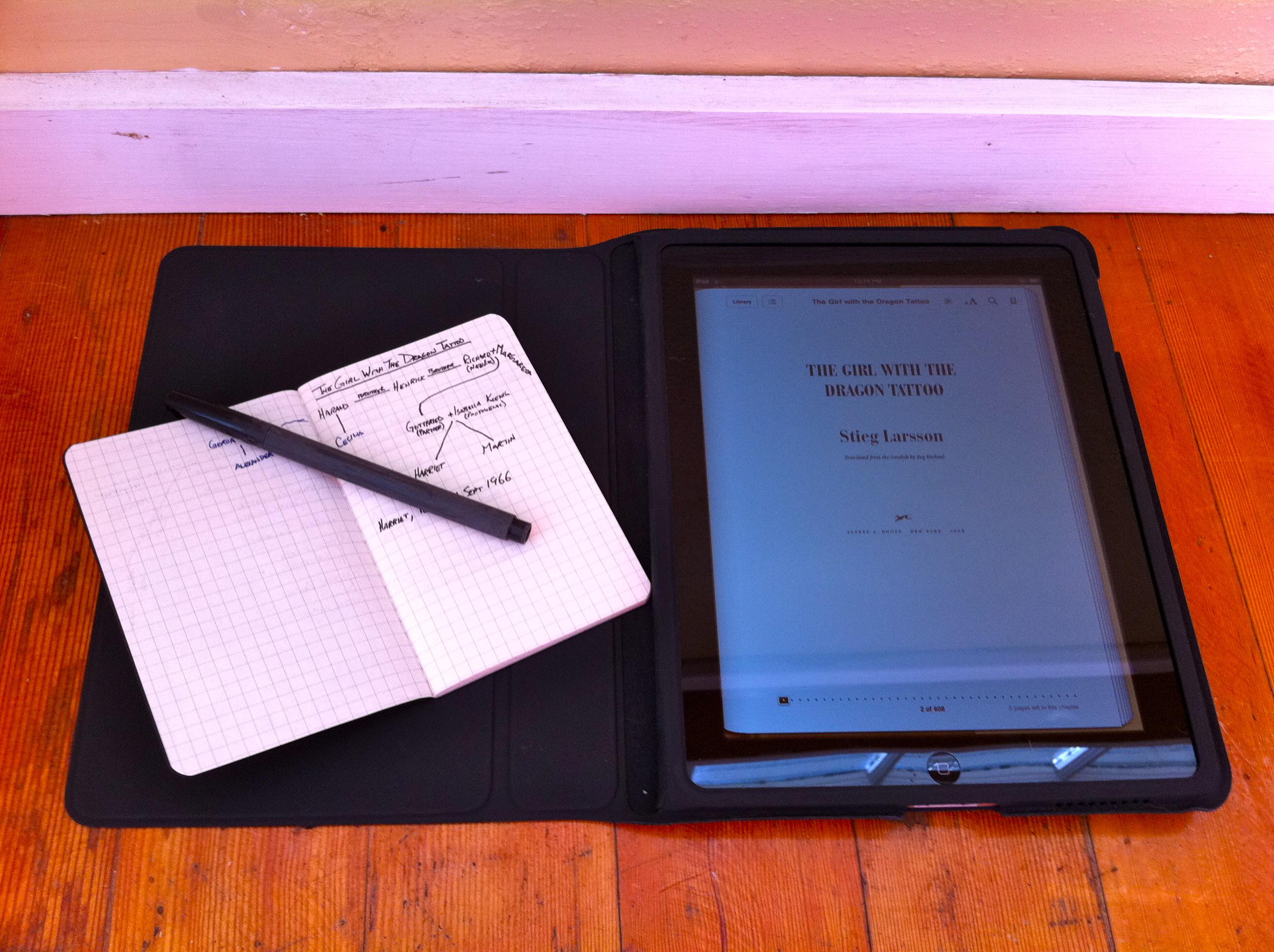 My reverse iPad/Moleskine hack