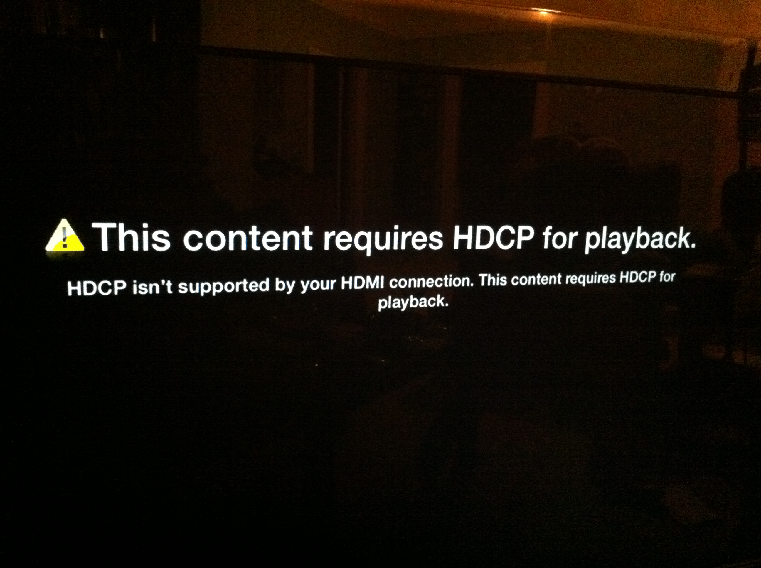 AppleTV and HDCP (Copy Protection)