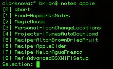 Trunk Notes lookups from the desktop