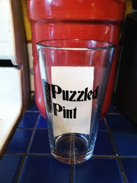 Puzzled Pintglass