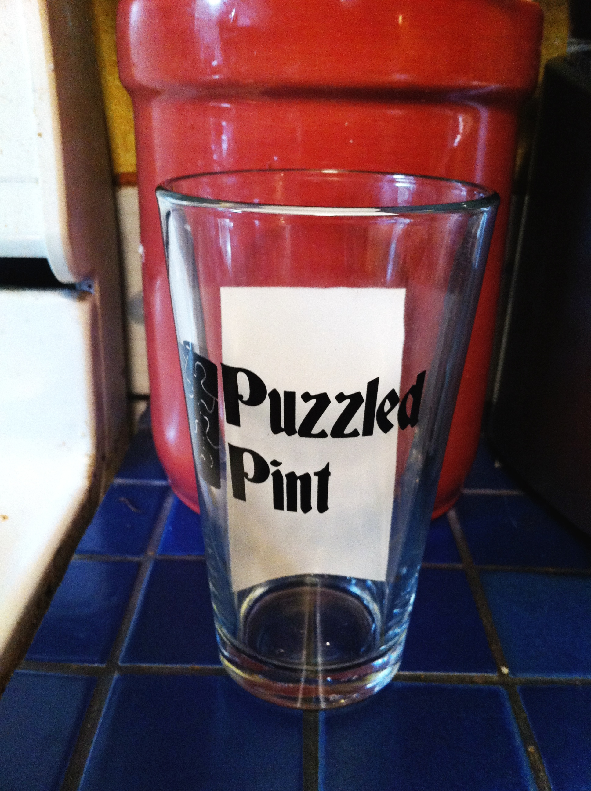 Puzzled Pintglass