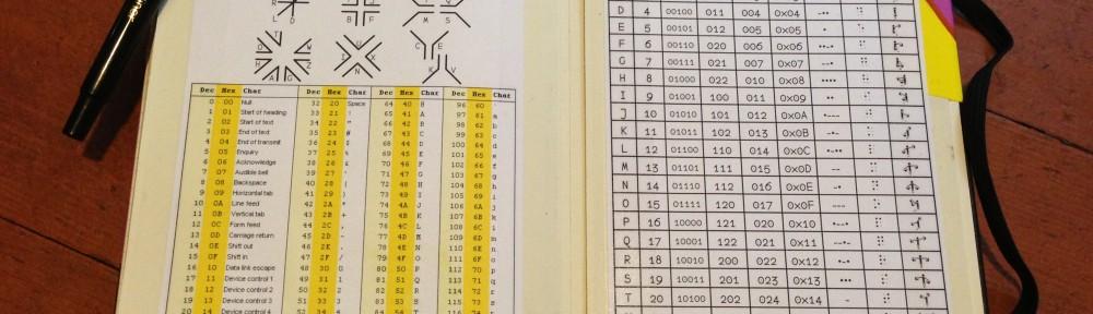 Moleskine code sheet