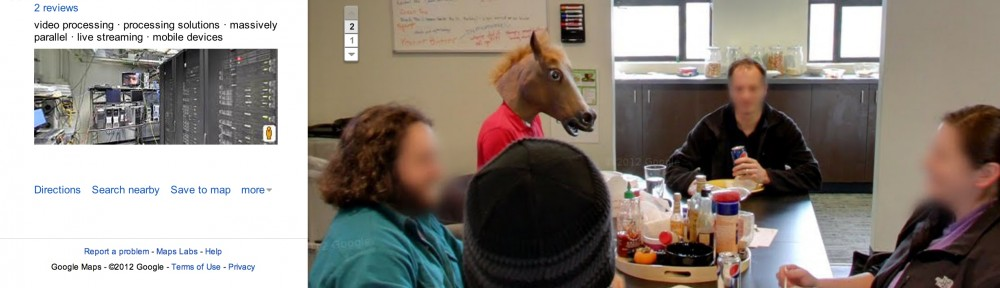 Why, yes, I *am* that creepy horse in Google's PDX street view
