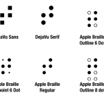 Use the best available braille