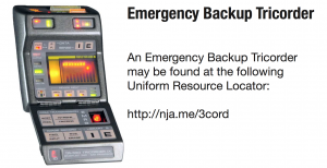 Backup Tricorder