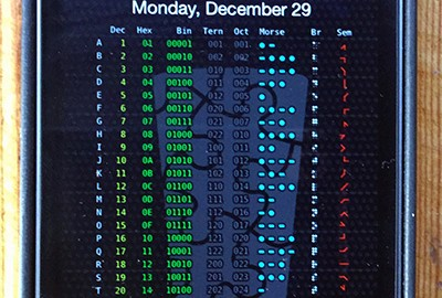 A code sheet on every lock screen