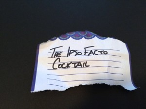 The Ipso Facto cocktail