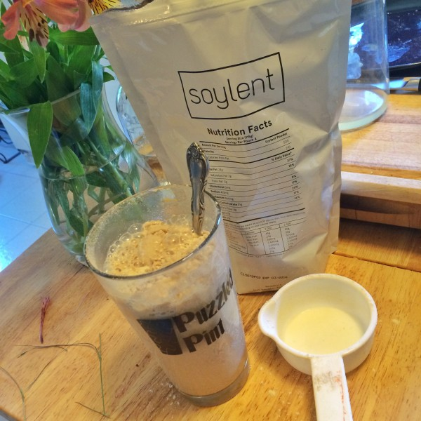 Soylent prep, intentionally not fully mixed for the lumpy powdery photo op.