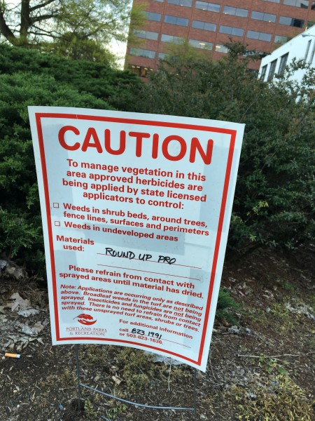 Roundup kills organics dead.