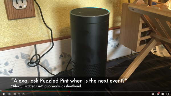 """Alexa, ask Puzzled Pint: when is the next event?"""