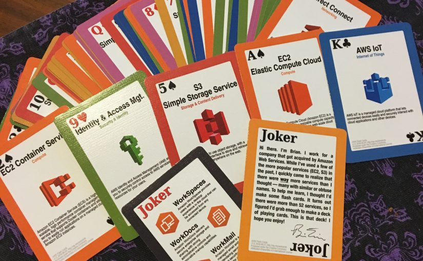 Designing Amazon Web Services Playing Cards