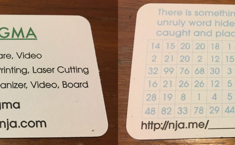 A puzzling business card