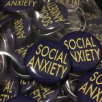 Social Anxiety, With Buttons and Stickers