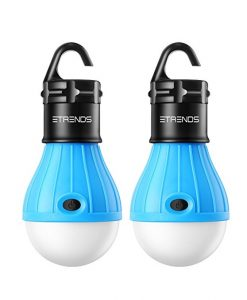 Battery-powered LED lightbulbs