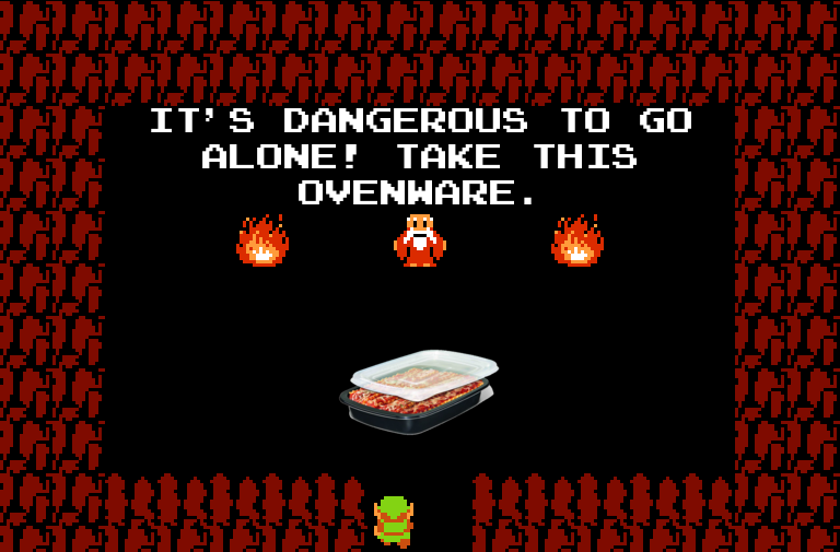 It's dangerous to go alone! Take this $NOUN