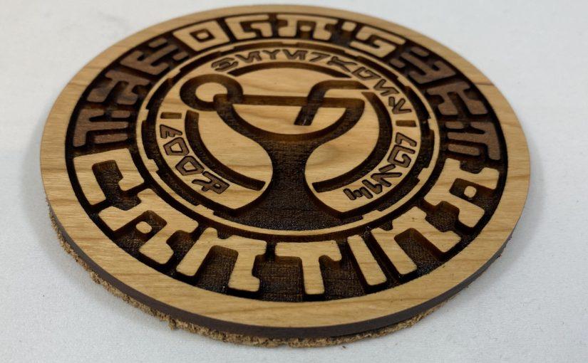 Laser-Cutting Cantina Coasters