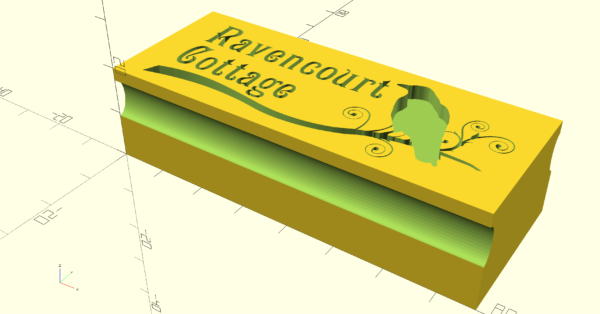 3D-printed stamp backing design